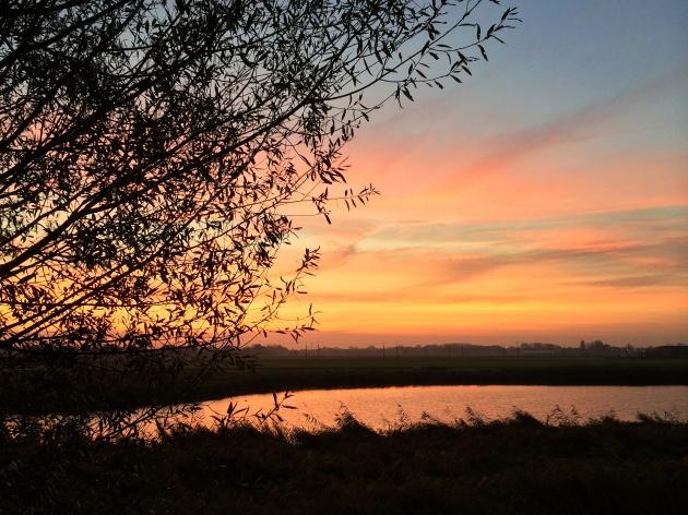 zonsopkomst, ons water, de Devel, Zwijndrecht