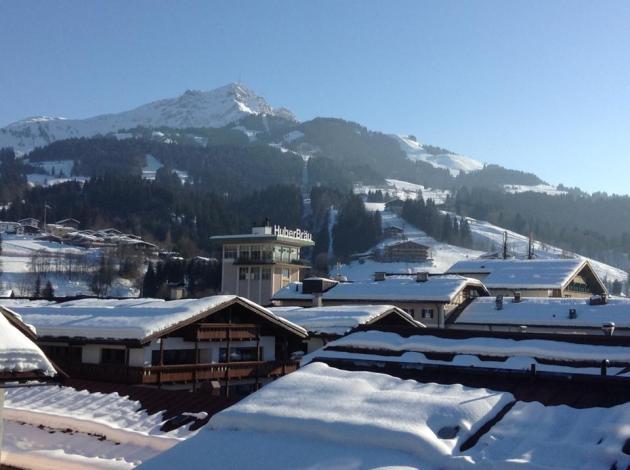 wintersport, uitzicht, berg, sneeuw