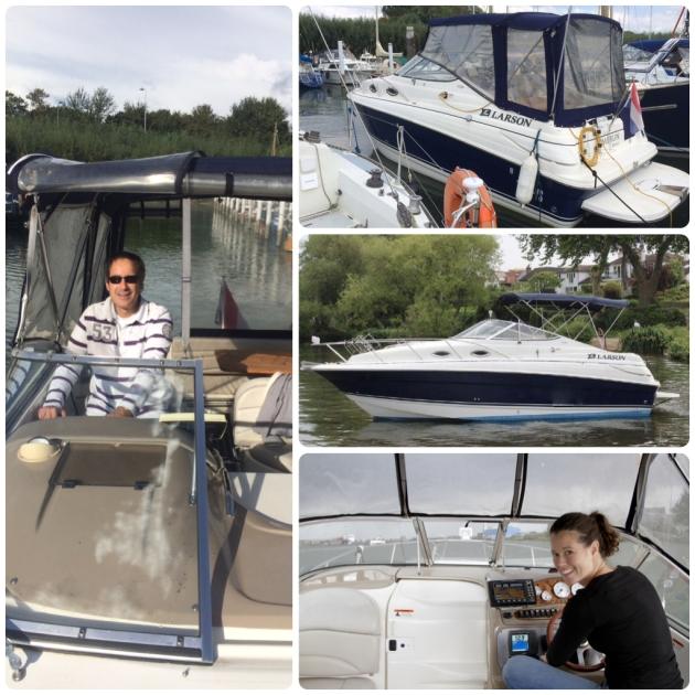 Foto Hamar mag varen met nieuwe motorboot, Larson. Nieuwe hobby op het water.