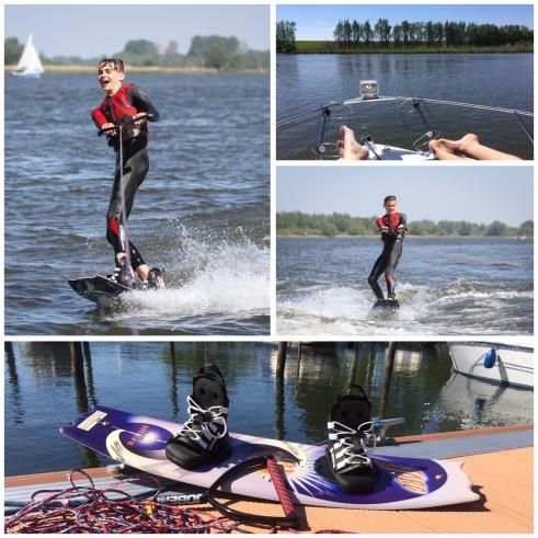 wakeboarden op de Amer