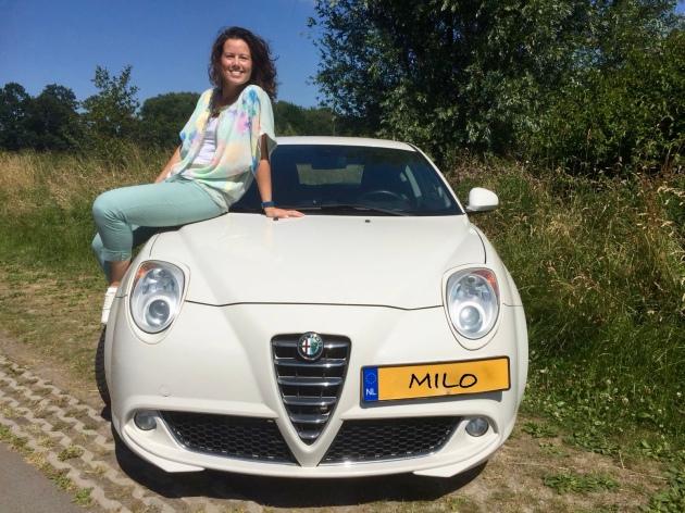 Witte Alfa Mito met nieuwe eigenaar