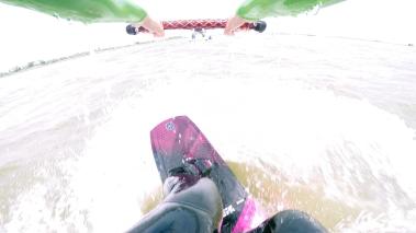 Wakeboarden vanachter de boot