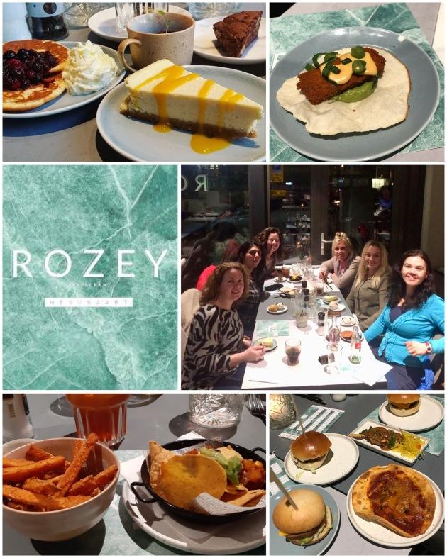 diverse vegetarische gerechten van Rozey