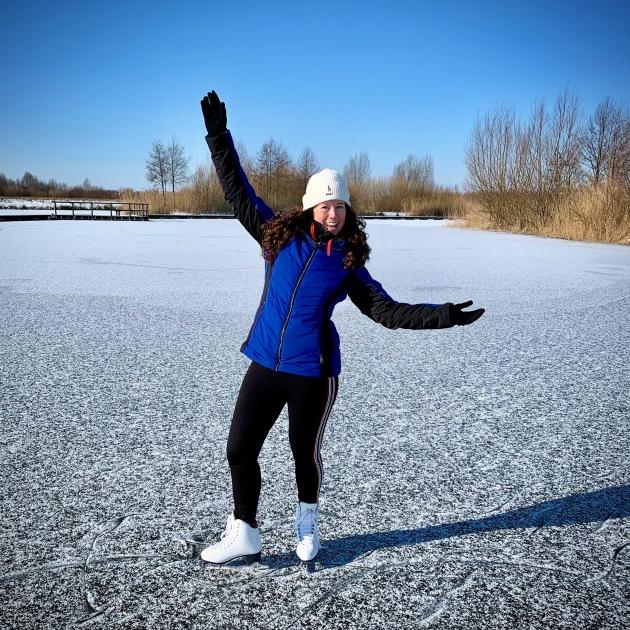Voor het eerst op het ijs